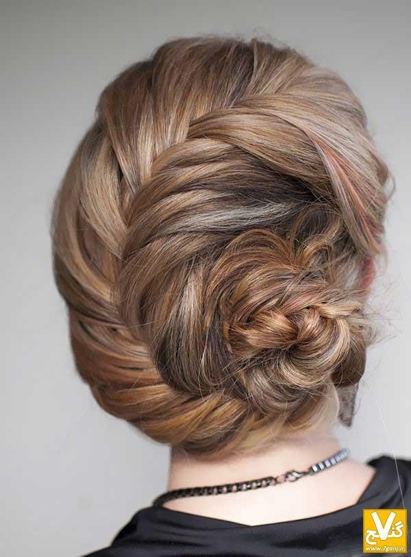 آموزش تصویری شینیون موی بسیار زیبا و راحت در منزل