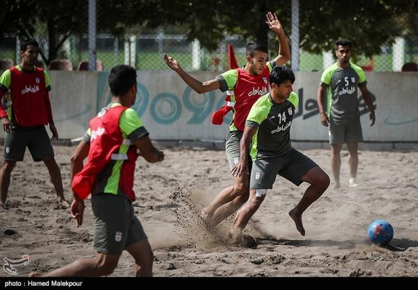 برگزاری سومین اردوی تیم ملی فوتبال ساحلی در مرکز ملی فوتبال