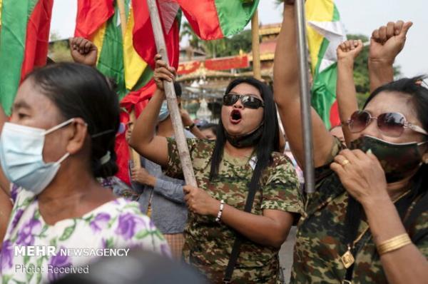 اعتراضات در میانمار گسترش یافت