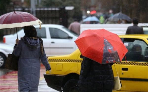 رگبار باران در 12 استان طی امروز
